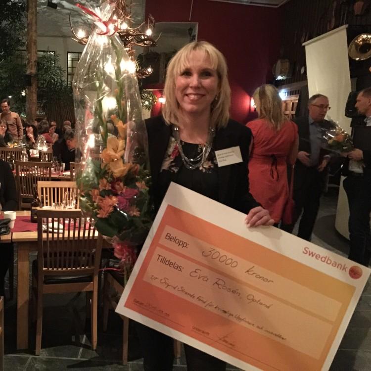 Eva receives Sigrid Strands Memorial Prize