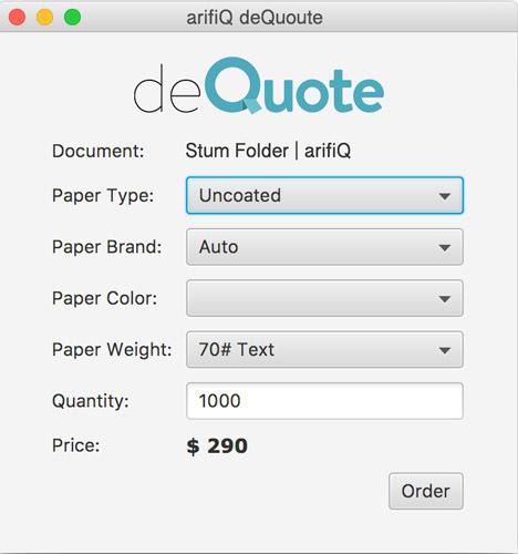 Skips the quoting procedure – this is deQuote